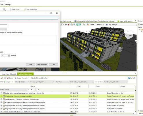 Creating a central 6D BIM model, by using the basis of previously developed models.