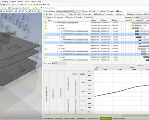 Schedule optimization in Bexel Manager Software.